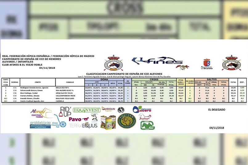 campeonato de españa de concurso completo de equitacion alevines